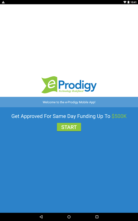 eProdigy Financial- screenshot