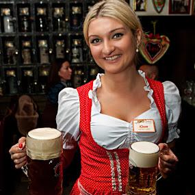 Beer Magic by Dmitriev Dmitry - People Professional People ( beer, bierkeller, woman, beauty, minsk )