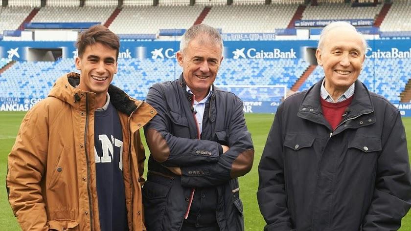 Jaime Sancho, Lucas Alcaraz y Manolo González.