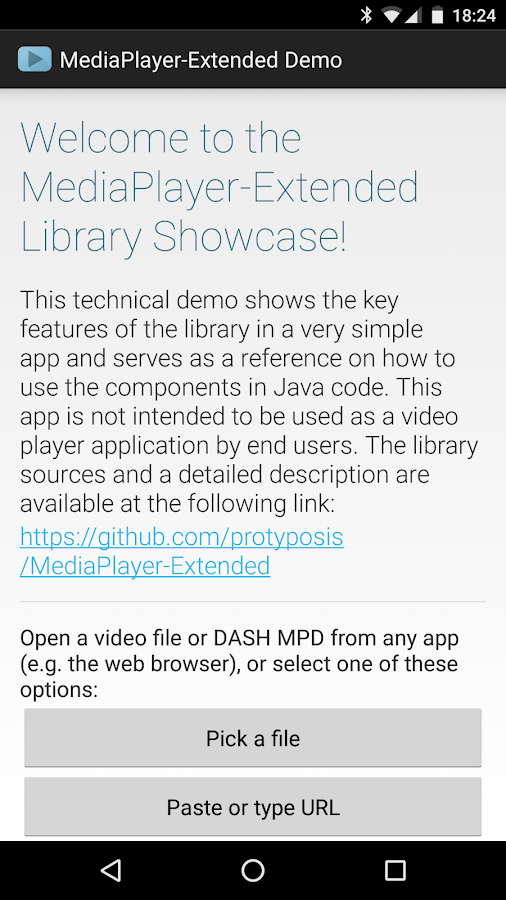 MediaPlayer-Extended Demo- screenshot