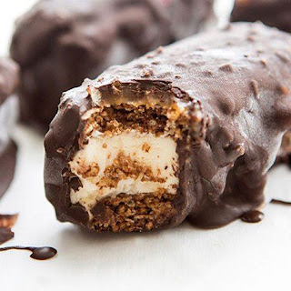 Chocolate-Covered Granola Ice Cream Sandwiches.