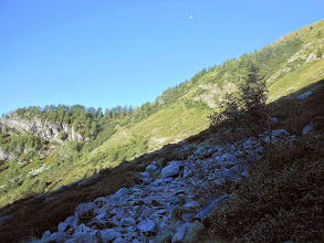 Photo: Con un traverso ci portiamo verso la cresta Sud del M.Chierico.
