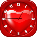 Heart Analog Clock Widget icon