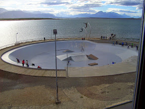 Photo: View from our Puerto Natales room on the last night with Zephur Adventures