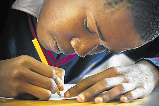 A pupil writing their matric exam. File photo.