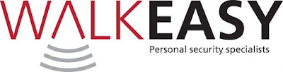 Logo WALK EASY Personal Alarm Security Specialists
