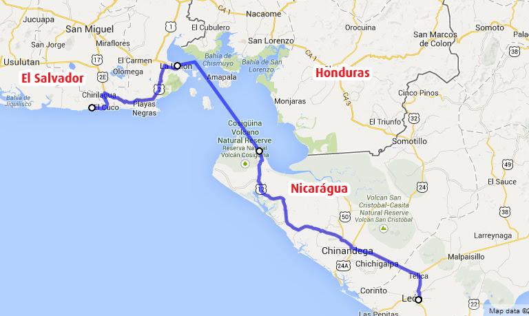 fronteira nicaragua el salvador
