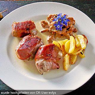 Schweinefilet in Parmaschinken mit Senf und Rosmarin