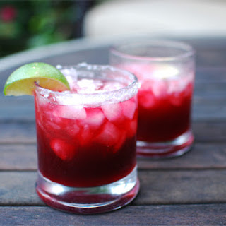 Roasted Jalapeno Blackberry Margarita