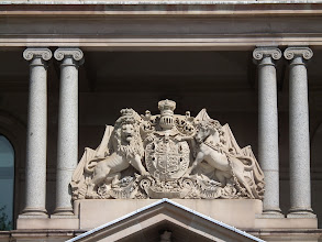 Photo: Coat of Arms over the Australian Customs House in Sydney - Circular quay