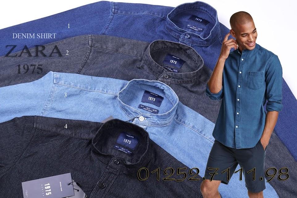 Sơ mi denim Zara | Bán buôn thời trang xuất khẩu