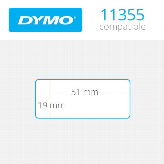 Dymo Labels 19x51mm Κωδ: 11355 Ρολό 500 ετικέτες