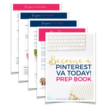 Free Guide: Pinterest Virtual Assistant Prep Workbook