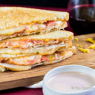 "Wine & Turkey Club Grilled Cheese {with ""Au Jus""}."