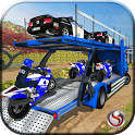 OffRoad Police Transport Truck Driving Games icon