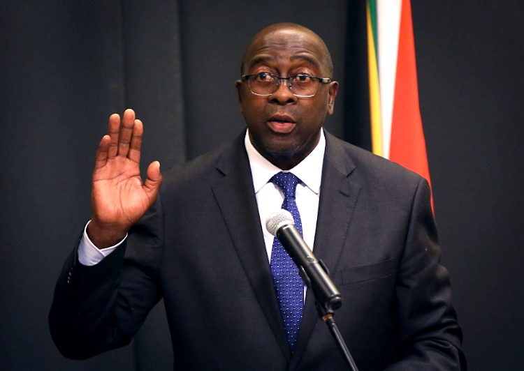 Nhlanhla Nene is sworn in as minister of finance in Cape Town, February 27 2018. Picture: REUTERS