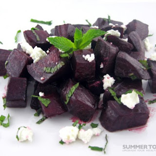 Roasted Beets With Fresh Mint and Chèvre