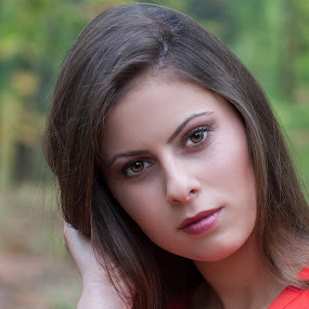 Ana 1 by Bogdan Negoita - People Portraits of Women ( woman, ana, portrait, , women, lady, red, World_is_RED )