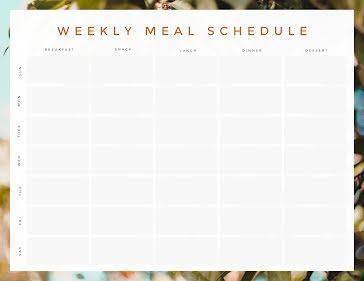 Meal Scheduler - Planner template