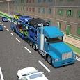 3D Car transport trailer truck