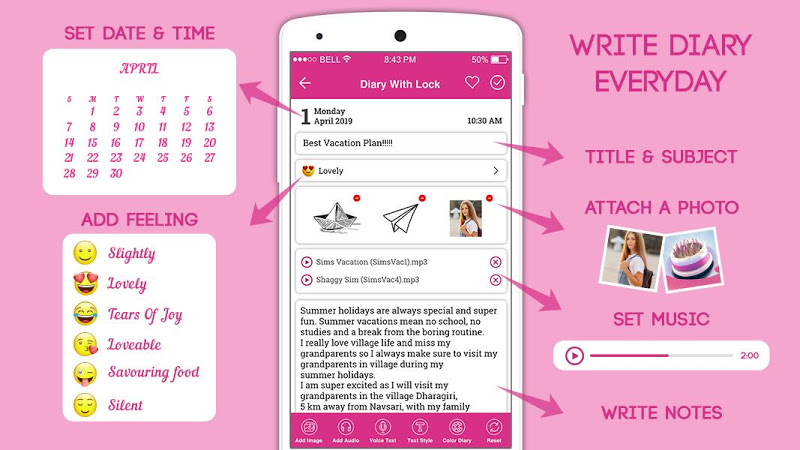 Secret Diary With Lock - Diary With Password Screenshot 9