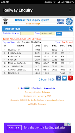 Download Indian Railway Enquiry App | Live Train Enquiry