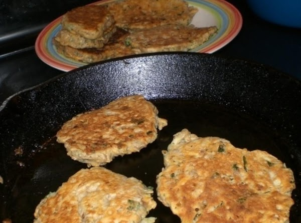 Directions for making small batches of Fritters using  2 cups of the cooked...