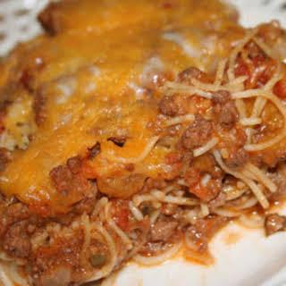 Baked Spaghetti by Paula Deen.