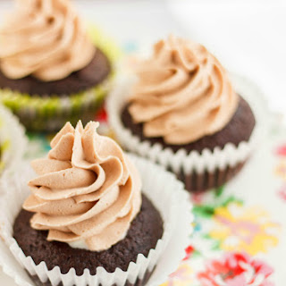 Lindt Lindor Milk Chocolate Cupcakes with Chocolate Buttercream.