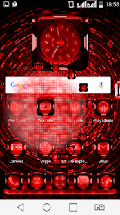 Next Launcher Theme LedShowRed- screenshot thumbnail