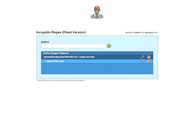 Incognito Regex (Fixed Version)