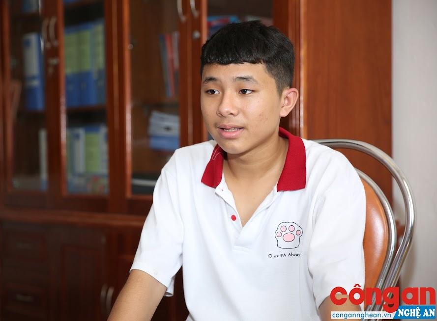 Lưu Đức Tài - Thủ khoa kỳ thi tuyển sinh vào lớp 10 THPT Nghệ An năm 2019