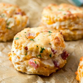 Ham & Cheese Biscuits.
