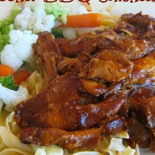 Slow-Cooker BBQ Chicken Thighs (2-Ingredient Recipe)