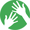 100 px Small Green WAYK hands copy.png