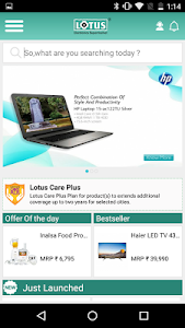Lotus Electronics Shopping App screenshot 1