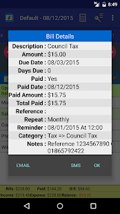 MoBill Budget and Reminder Screenshot 6
