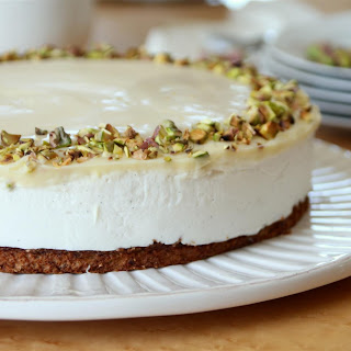 Pistachio and Lemon Cheesecake.