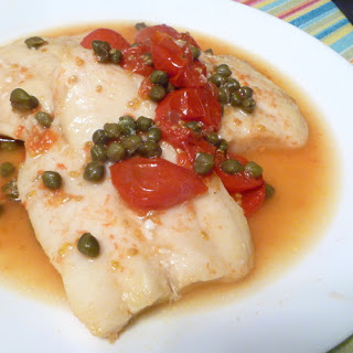 Swai with Tomatoes and Capers.