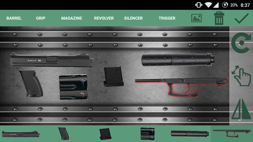 Weapon Builder : Pistol screenshot 2