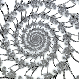 Spiral 25 by Cassy 67 - Illustration Abstract & Patterns ( abstract, wormhole, abstract art, swirl, black & white, digital art, harmony, white background, spiral, fractal, fractals, digital )