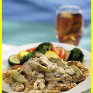 Chicken, Artichoke, and Mushroom Rice Casserole