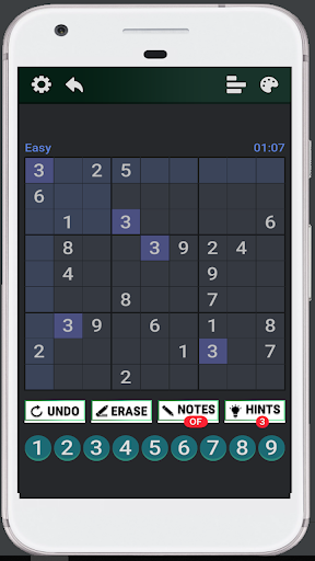 Classic Sudoku : Free Logic Number Puzzle Game apkdebit screenshots 2