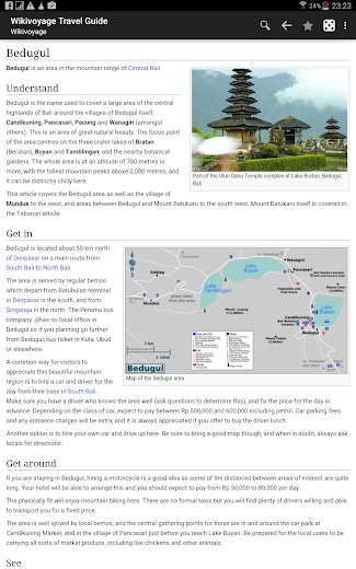 Screenshot 3 for Wikivoyage's Android app'