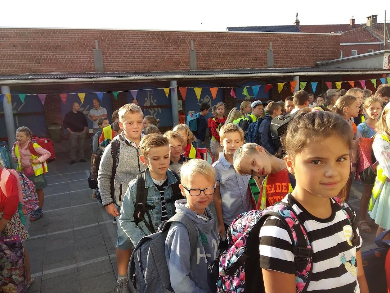 De eerste schooldag