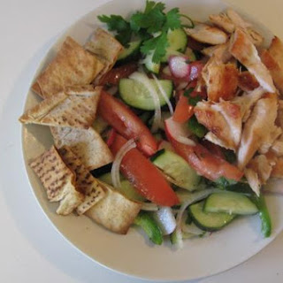 Lettuce-Less Fattoush Salad With Grilled Chicken