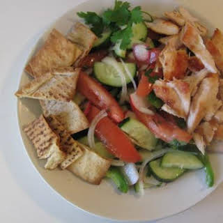 Lettuce-Less Fattoush Salad With Grilled Chicken.