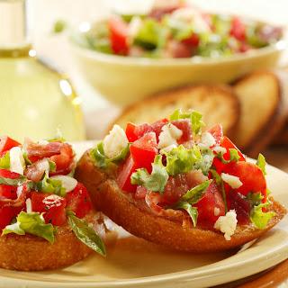 Bacon, Lettuce and Tomato Bruschetta.