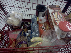 Photo: Our basket filled with so many great items, I couldn't wait to get home and make my snack recipe.