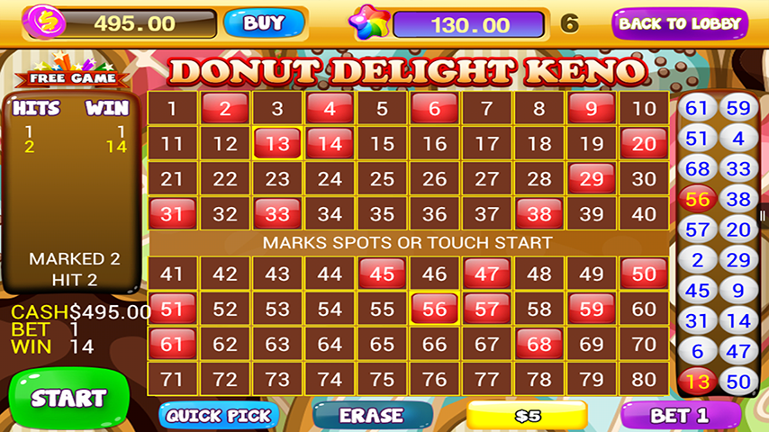 free keno games for android